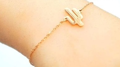 Bracelet rose gold cactus