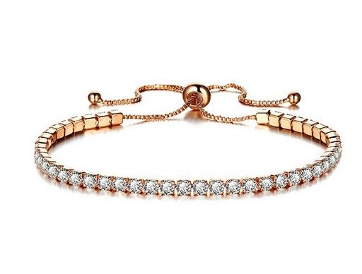 Bracelet rose gold serti de strass