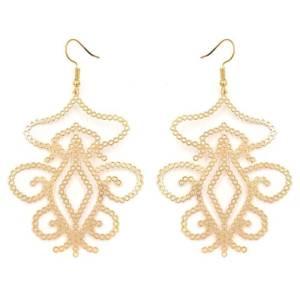 Boucles d'oreilles arabesque doré