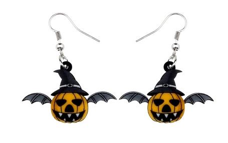 Boucles d'oreilles halloween citrouille