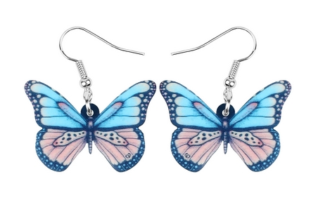 Boucles d'oreilles papillon détails