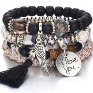 Bracelet boho noir