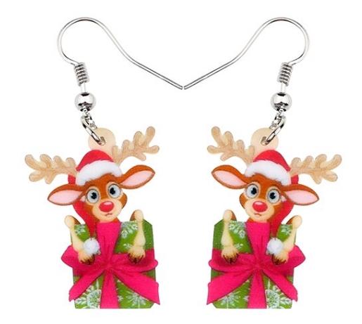 Boucles d'oreilles renne cadeau