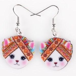 Boucles d'oreilles chat bandeau