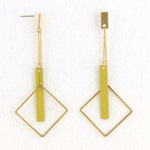 Boucles d'oreilles géométriques jaune