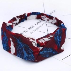 headband bordeaux bleu