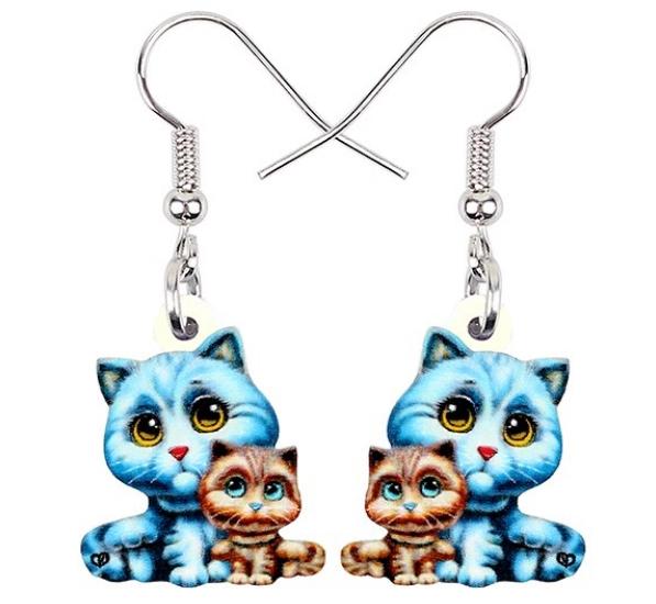 Boucles d'oreilles chatons mignons