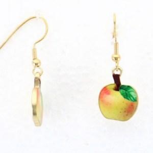 Boucles d'oreilles vintage pomme