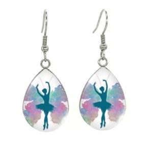 Boucles d'oreilles médaillon danseuse