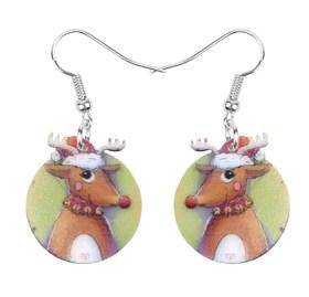 Boucles d'oreilles renne nez rouge