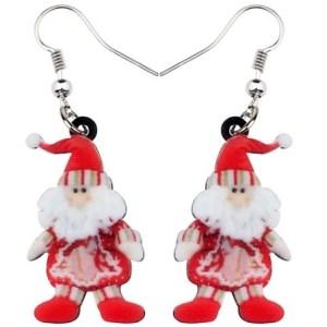 Boucles d'oreilles gnome de Noel