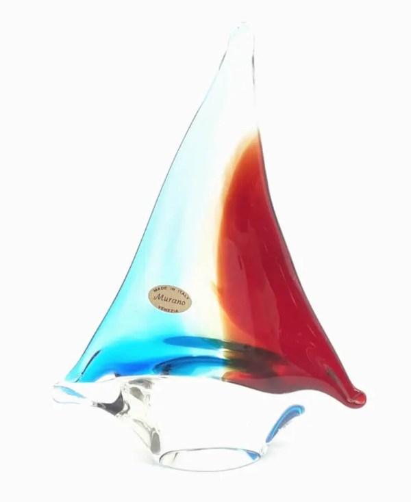 barca a vela vetro di murano