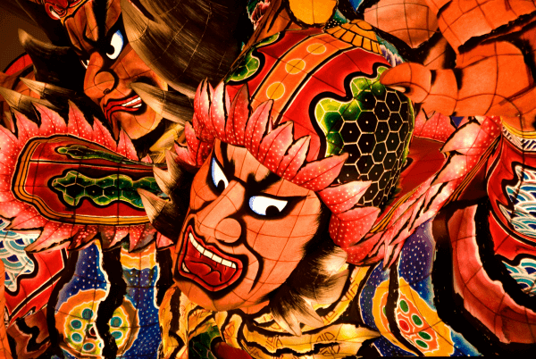 Nebuta Matsuri festival floats Aomori Japan