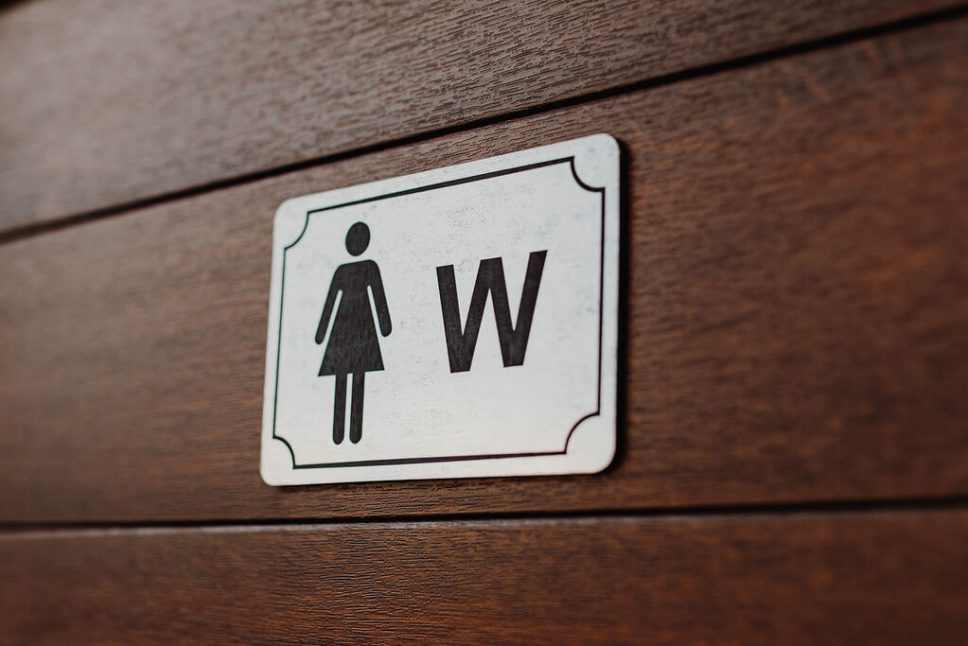 Use the bathroom at a Japanese convenience store