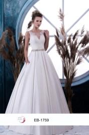 Robe de mariée ligne A (disponible en ivoire et blanc)