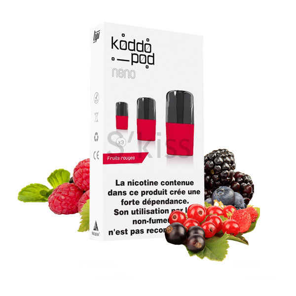 pod nano fruits rouges sels de nicotine Le French Liquide - S'Kiss