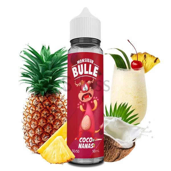 E-liquide Coco Nanas 50ml Monsieur Bulle par Liquideo