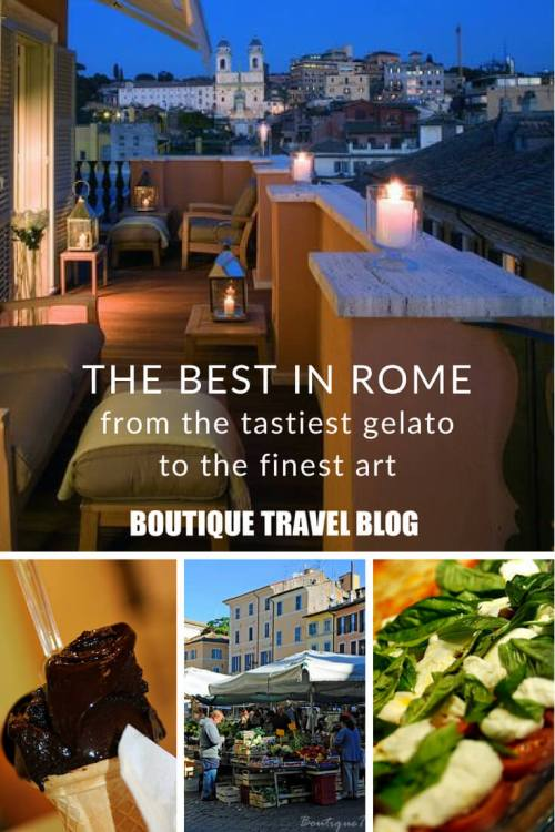 Where to find that best that Rome has to offer, from the tastiest gelato to the finest art to the finest art. #Rome #Italy