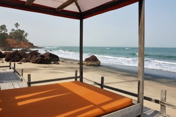 Ngala Lodge's private beach