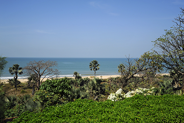 View to the beach from Leo's Beach Hotel, The Gambia