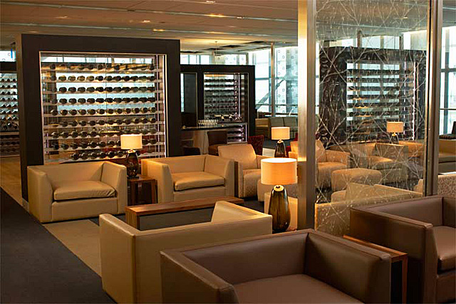 Luxury airport lounge