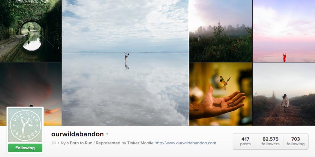 ourwildabandon, top instagrammer 2015