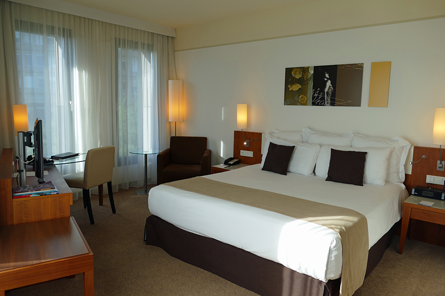 The stylish Meliá Luxembourg in the heart of the Kirchberg financial district, just a short drive from the airport.