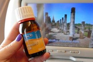 Almond oil, one of my top ten beauty tips for long haul flights