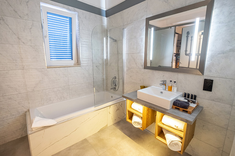 Bathroom at The Saint John, Malta