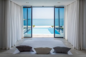 View from the one bedroom Beach Villa's