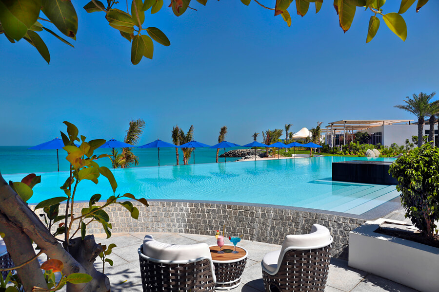 The amin swimming pool at Zaya Nurai Island
