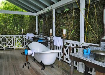 Open air bathroom, Belle Mont Farm, St Kitts