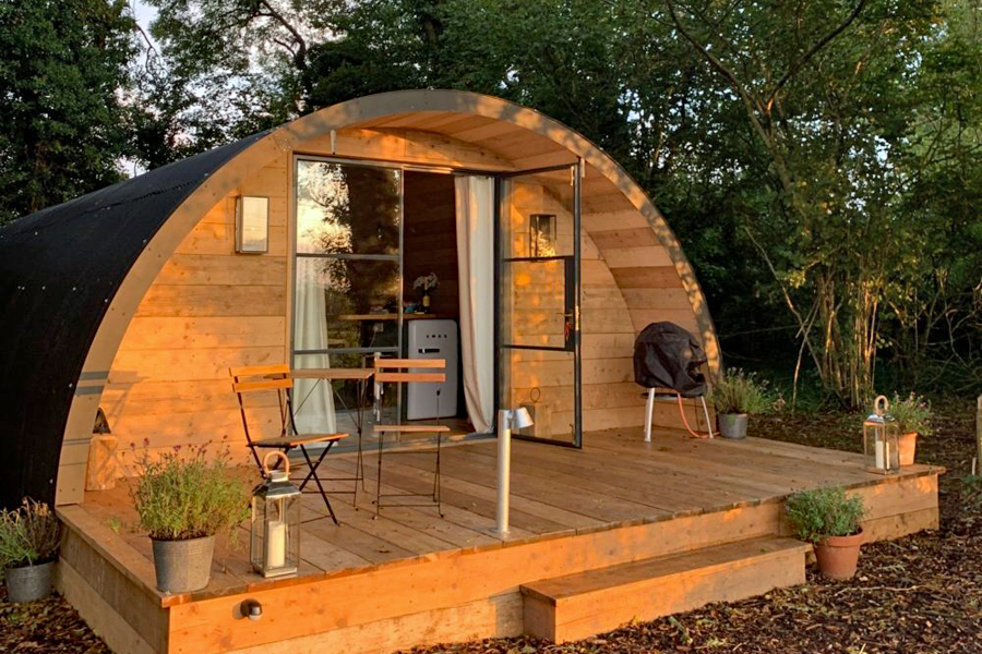 Hampshire glamping at the Pigsty near Winchester, England
