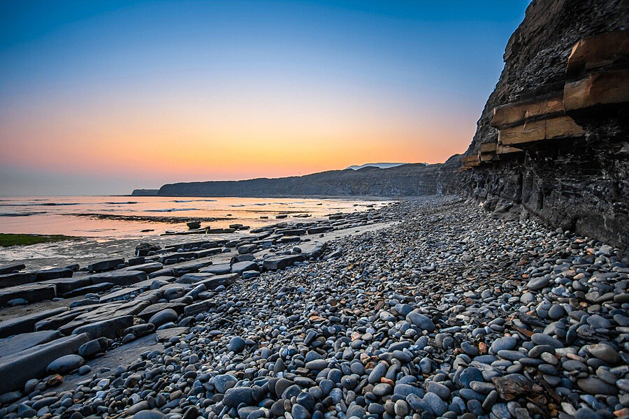shingle beach on the Jurasic Coast