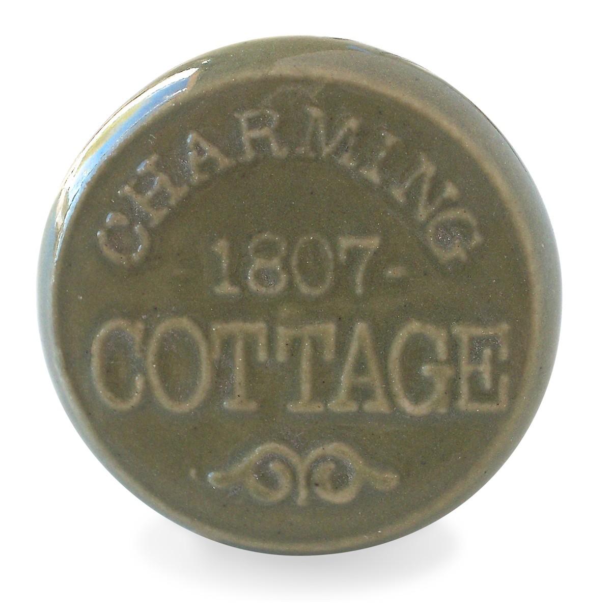 Bouton de Meuble Charming Cottage Vert Vintage  Boutonsdemeublescom