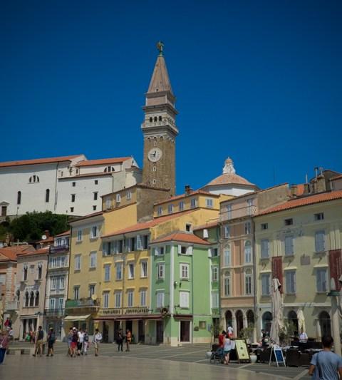 Slovénie : ruelle de Piran
