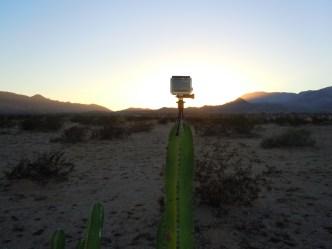 Ad hoc camera stand.