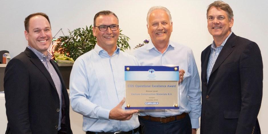 COS Award voor Carlisle® Construction Materials BV te Kampen