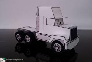 bouwplaat-papercraft-truck-trailer