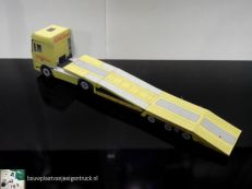 bouwplaatvanjeeigentruck-paper model-daf xf-truck transport trailer-estepe