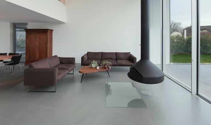 Terras in beton gieten wat is de prijs en zijn er voordelen