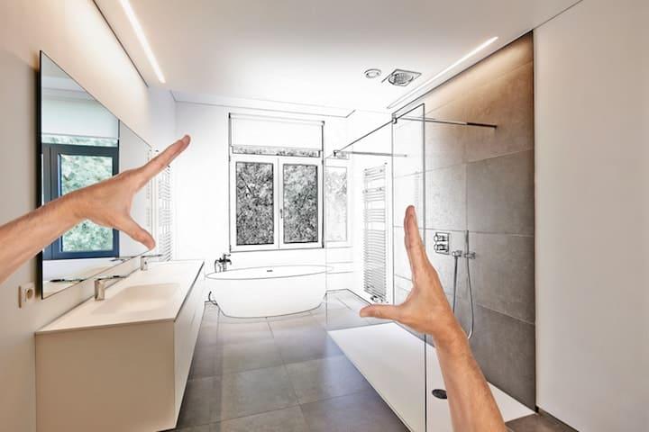 badkamer zelf uittekenen in 3d