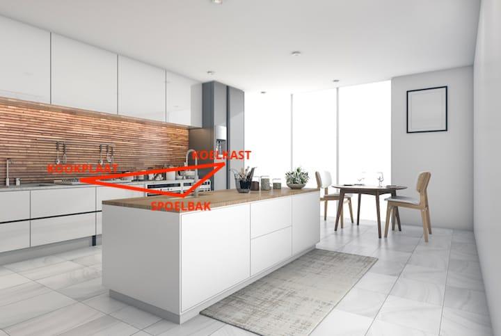 Ergonomie De Keuken : 4 tips voor de ideale keukenindeling: ergonomie afmetingen & prijs