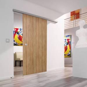 Binnendeur schuifbeslag hout en glas