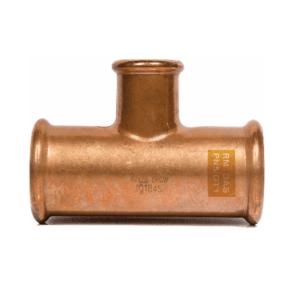 T-koppeling met verloop Roodkoper Gas