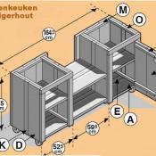 Buitenkeuken bouwtekening om zelf te maken van steigerhout