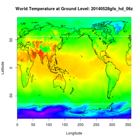 World temperature on May 28.