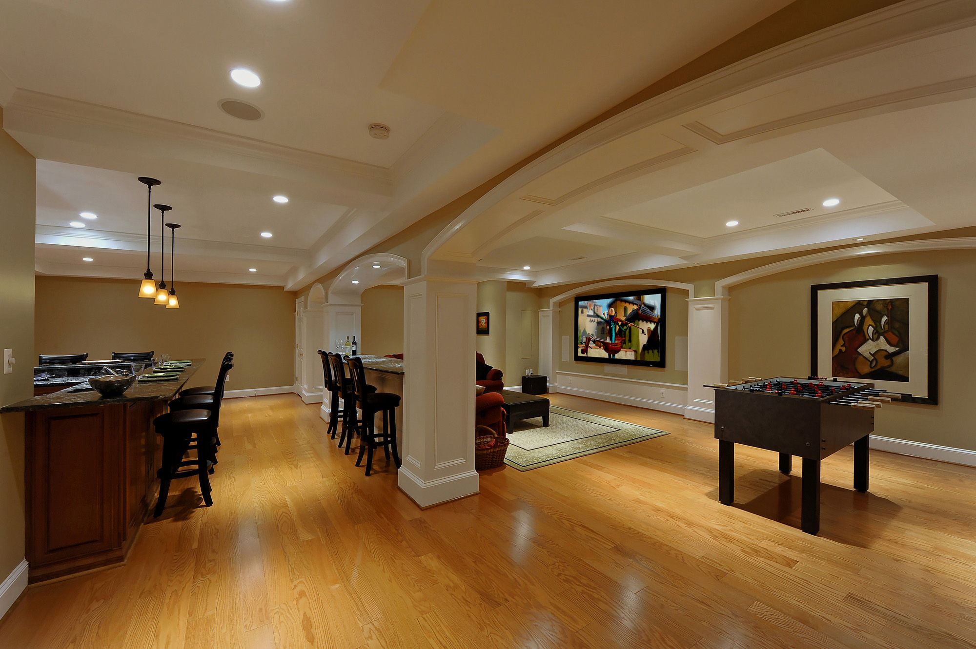 Lower Level Renovation Creates Wonderful Spaces for