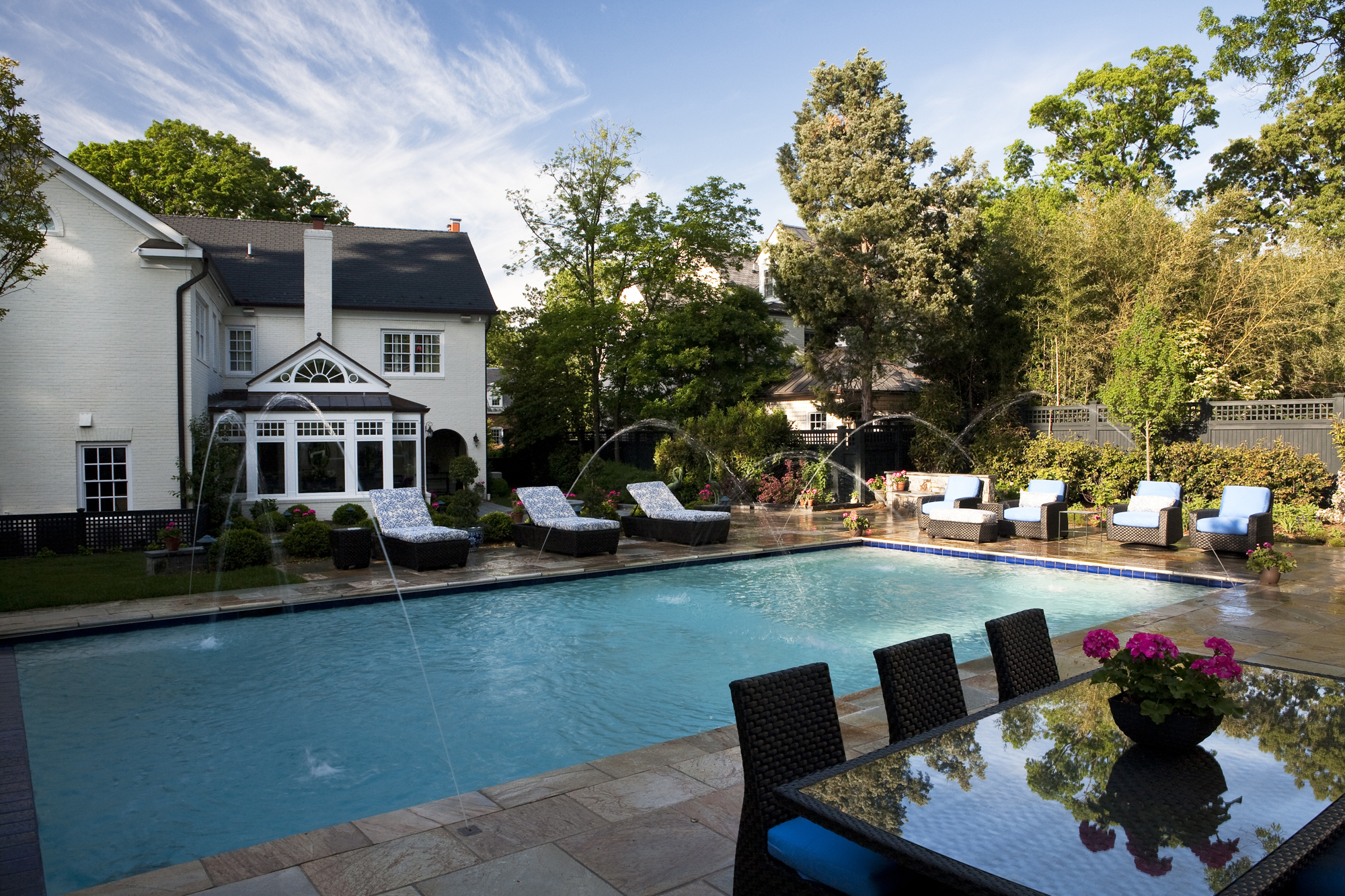 kitchen remodeling fairfax va glass table set stunning backyard and pool addition in alexandria ...