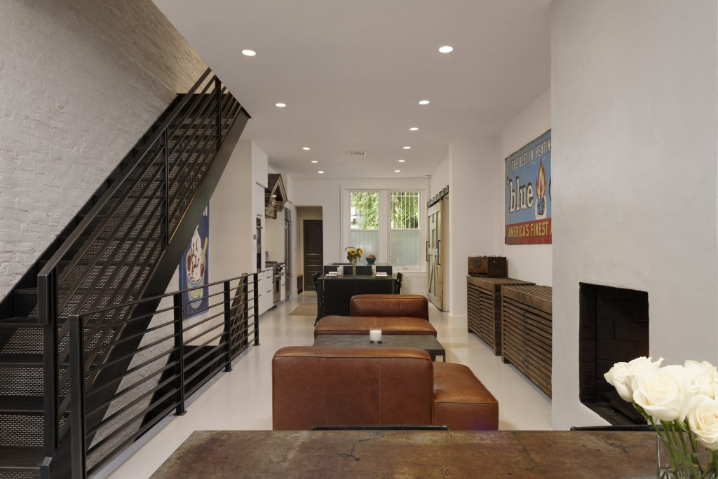Industrial Chic Row Home Renovation in Dupont Circle DC  BOWA